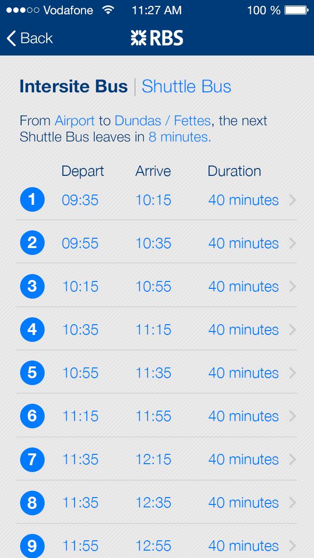 Intersite Bus Times